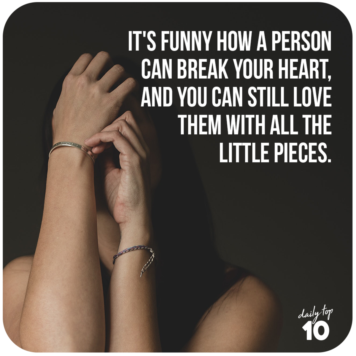 A person can break your heart.