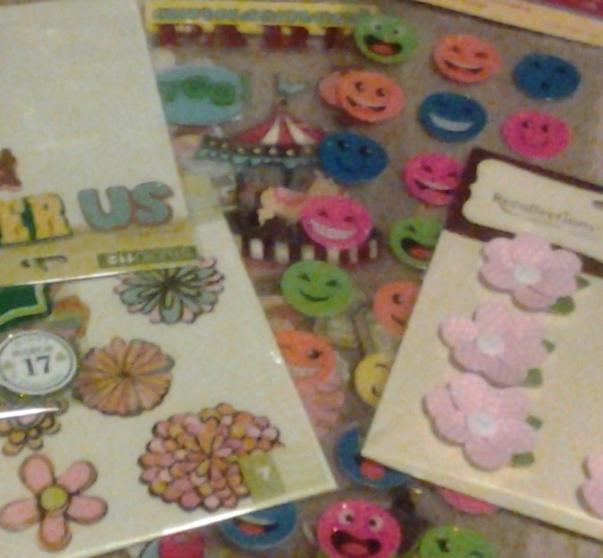 Get tons of cute scrapbook stickers on eBay for a fraction of the in-store cost.