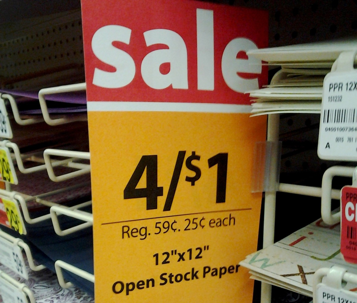 Look out for great savings on scrapbook supplies!