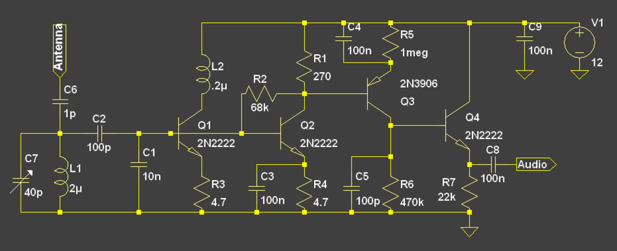 A bias point compressive regenerative receiver.