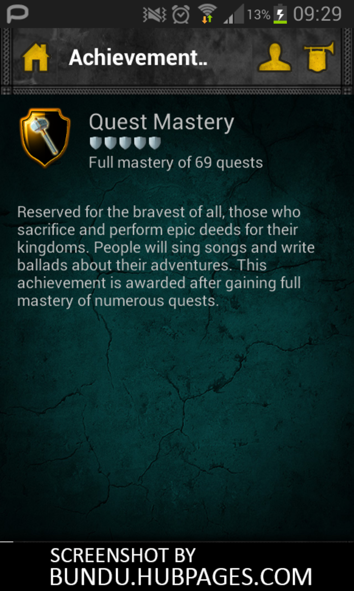 Quest Mastery screenshot with all 69 quests fully completed