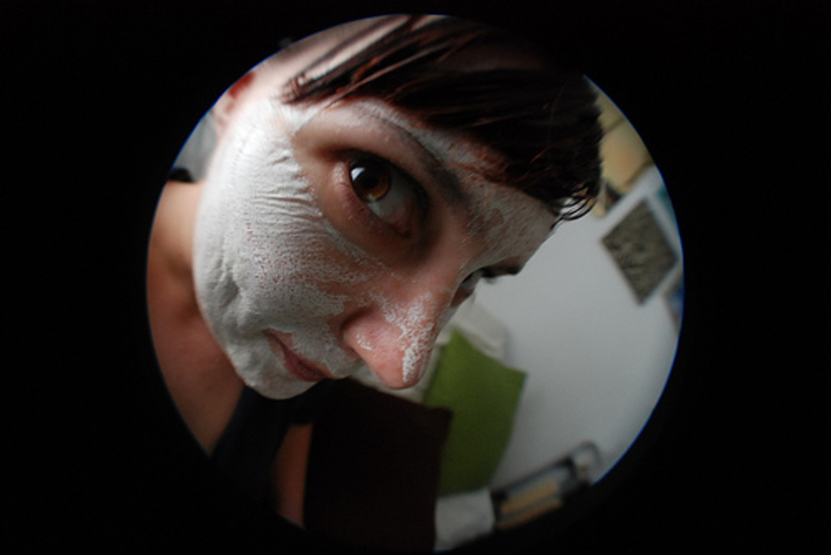 Face masks often look a little strange, and natural  ones often look even weirder. CC BY 2.0, via Flickr.