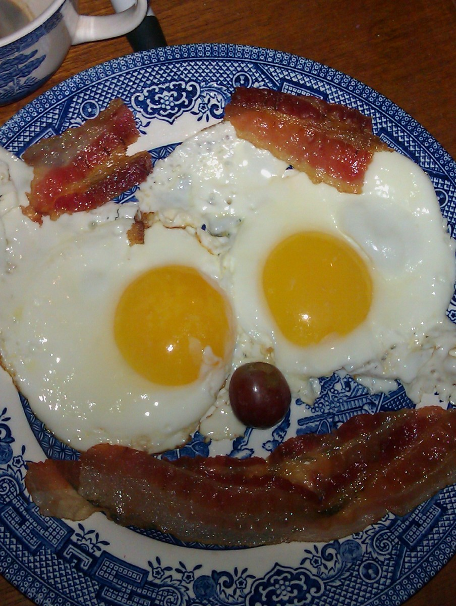 Typical and Traditional Breakfast in New England