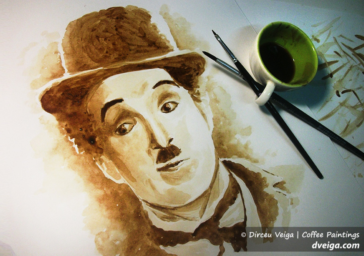 Coffee painting can have dark and light tones.