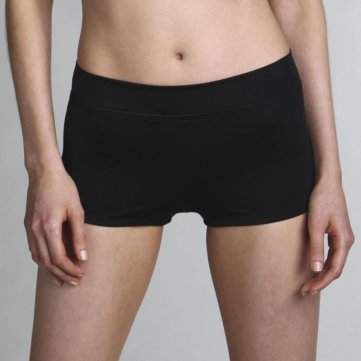 Classic Swim Short - Basic Black Swim Shorts for Women - Tropical Escape  Women's Swim Shorts