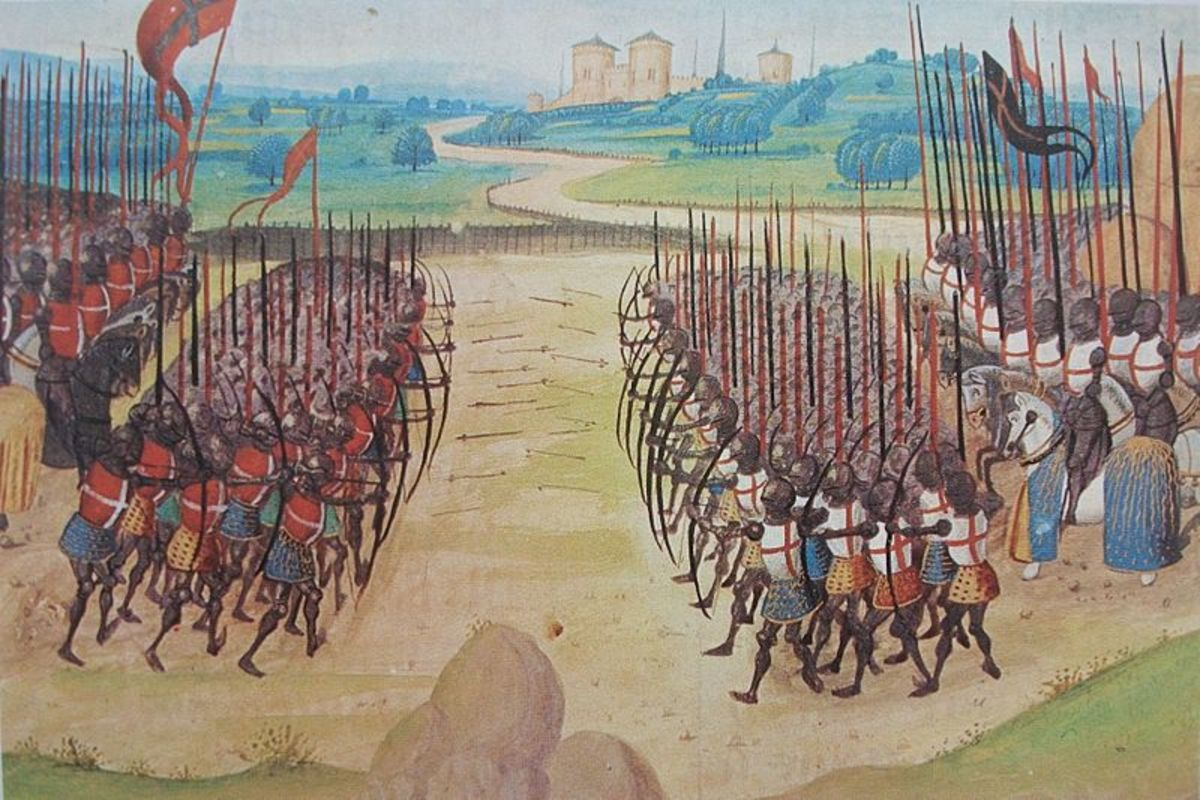 A 15th century miniature depicting the battle of Agincourt.