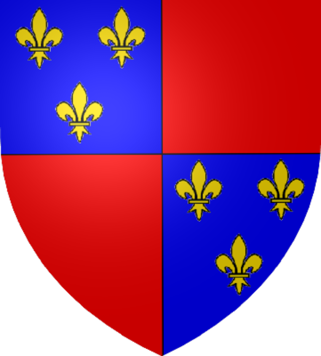 This is the coat of arms of Charles d'Albret, the Constable of France and leader of the French Army at Agincourt.