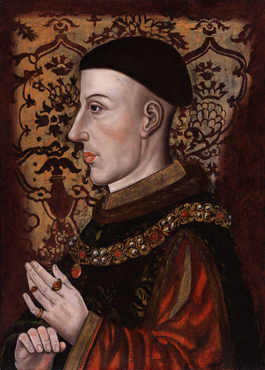 Henry V, King of England who tried to claim the French crown through his great grandfather Edward III.