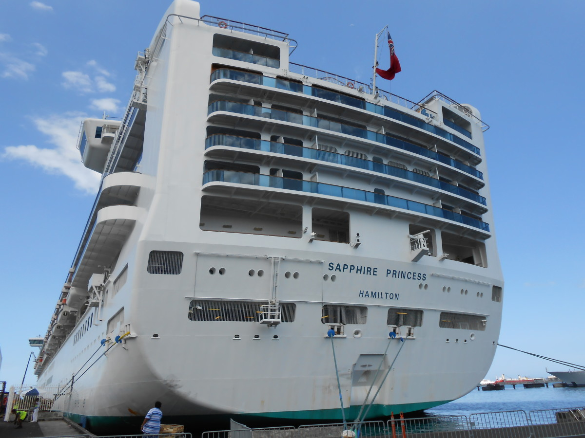 "The Cruise ship, ""Sapphire Princess"" docked in Papeete, Tahiti"