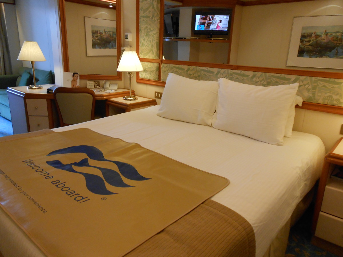 Our mini-suite cabin as it looked when we arrived onboard...so exciting!