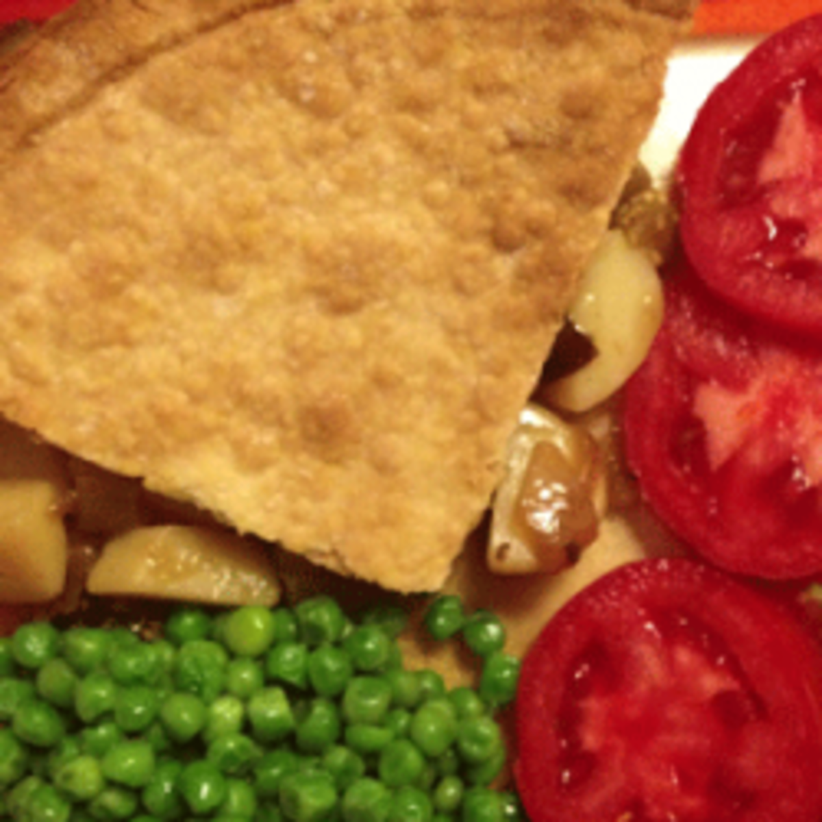 Vegetarian 'meat' and potato pie recipe