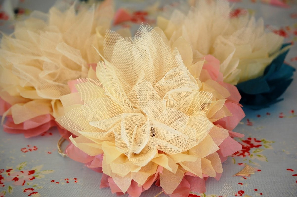 Tulle Flowers Tutorial
