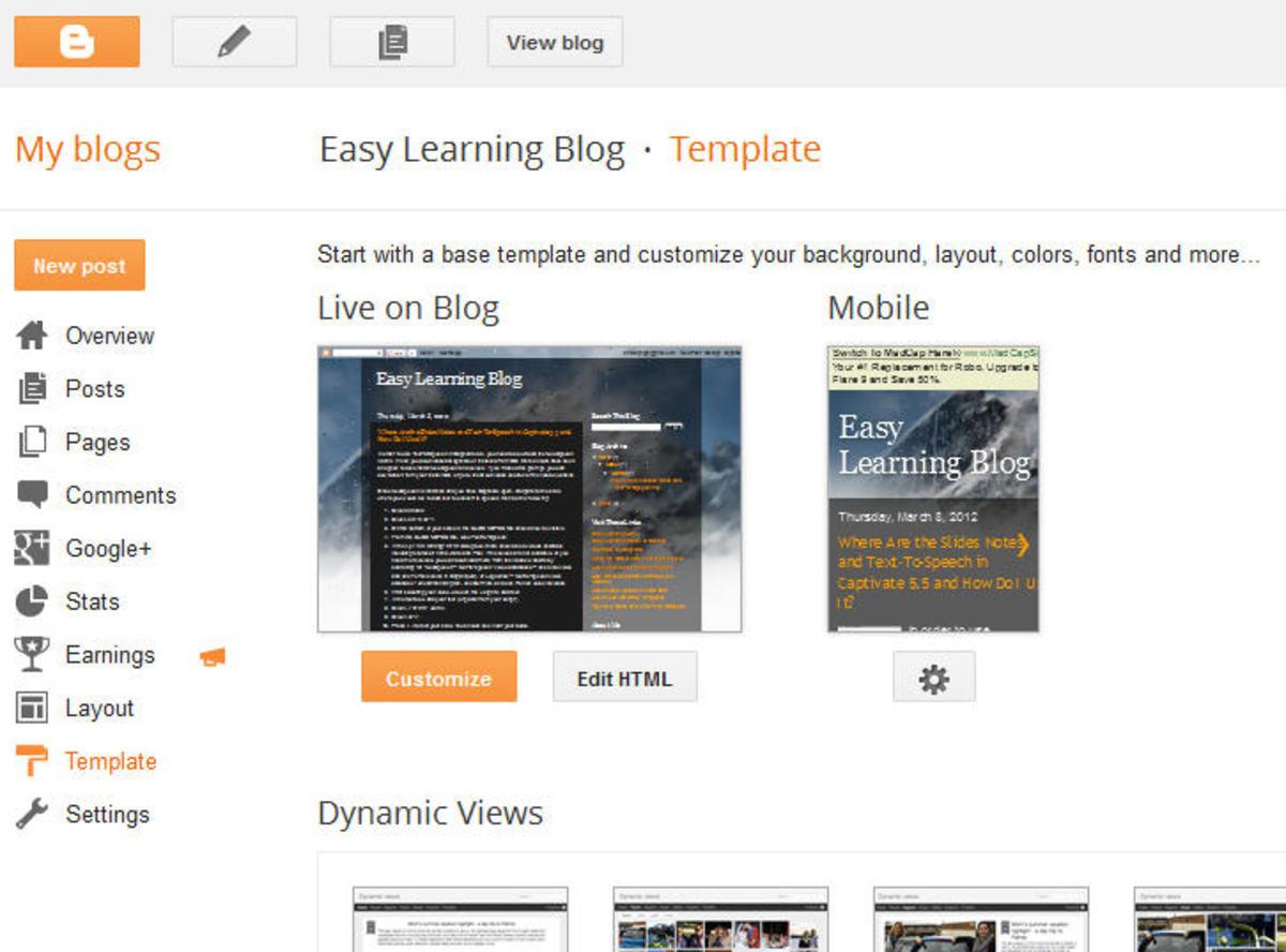 Google Blogger Setup