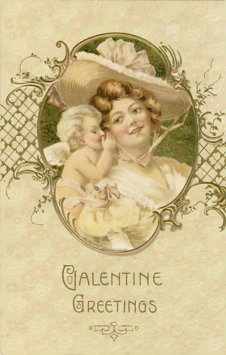 "This card was postmarked in 1903 and has ""Printed in Germany""."