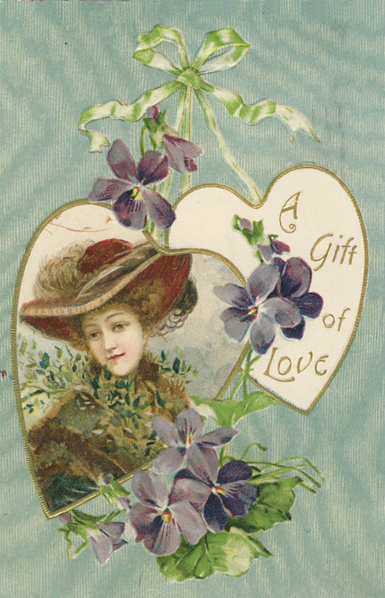 """This card is postmarked in 1908 and says """"Printed in Germany""""."""