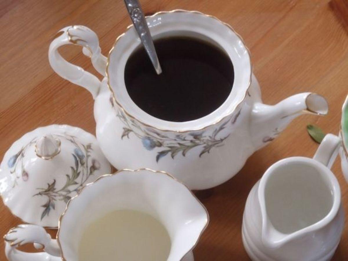Tea brewing in a tea pot