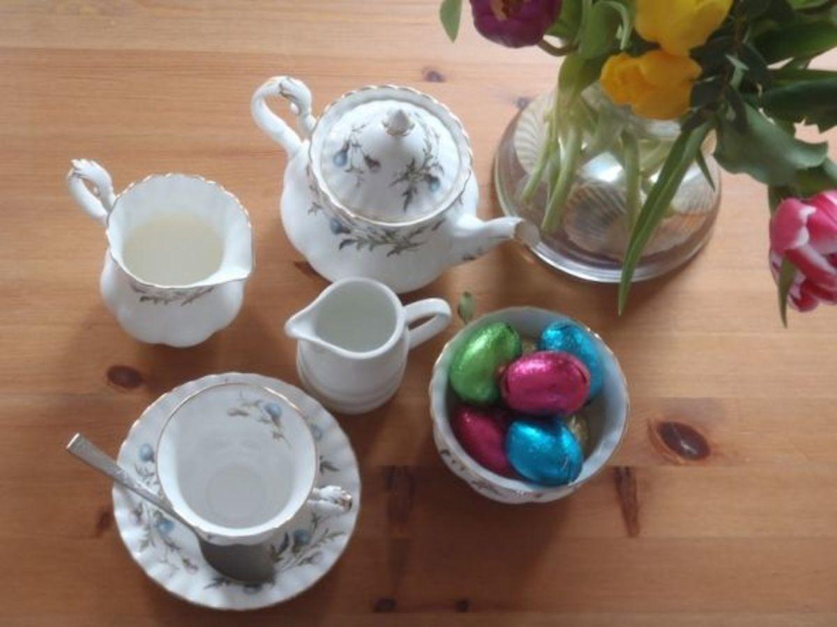 A china tea set