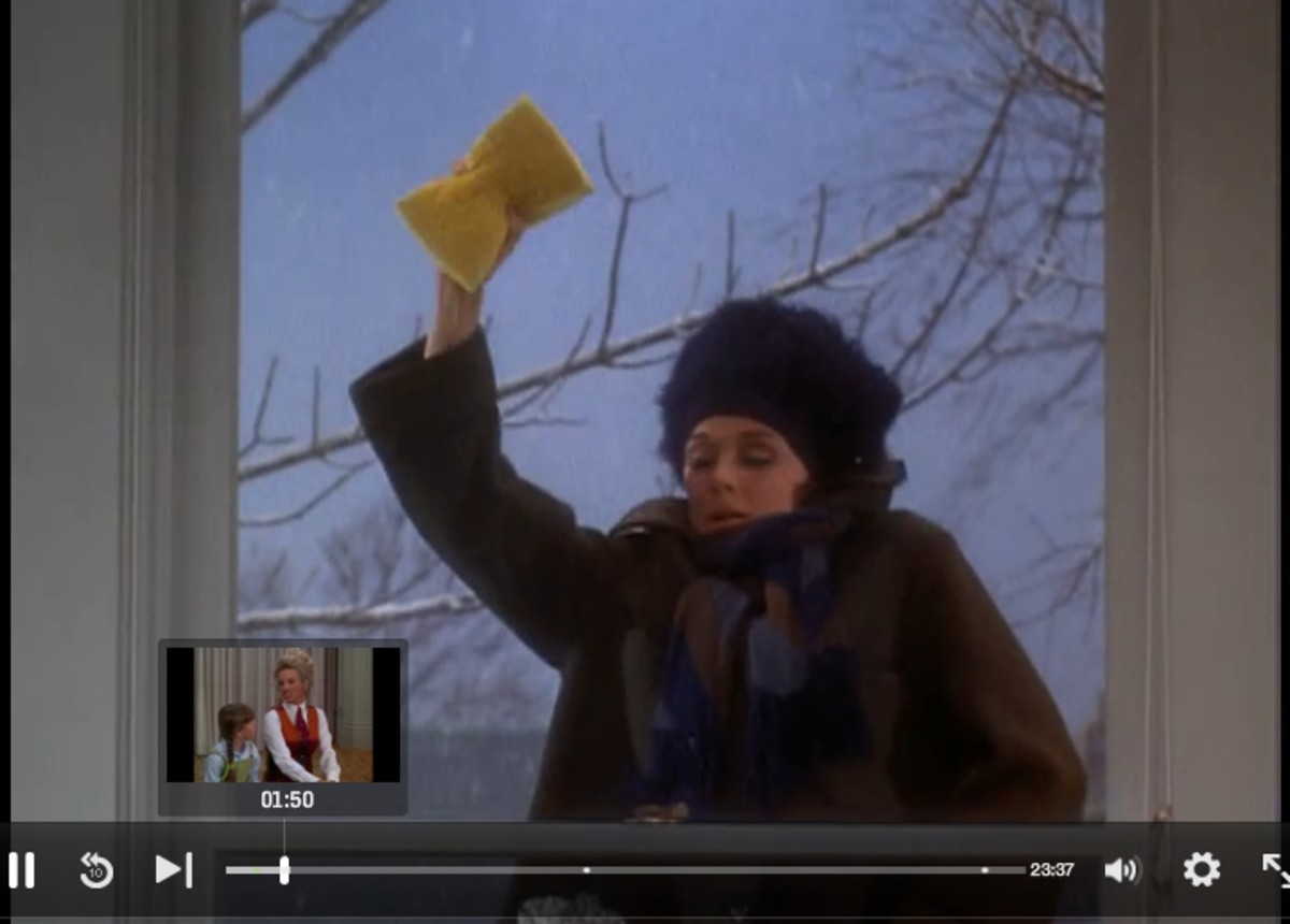 """""""The Mary Tyler Moore Show""""  Rhoda Washing Windows of """"her"""" apartment"""