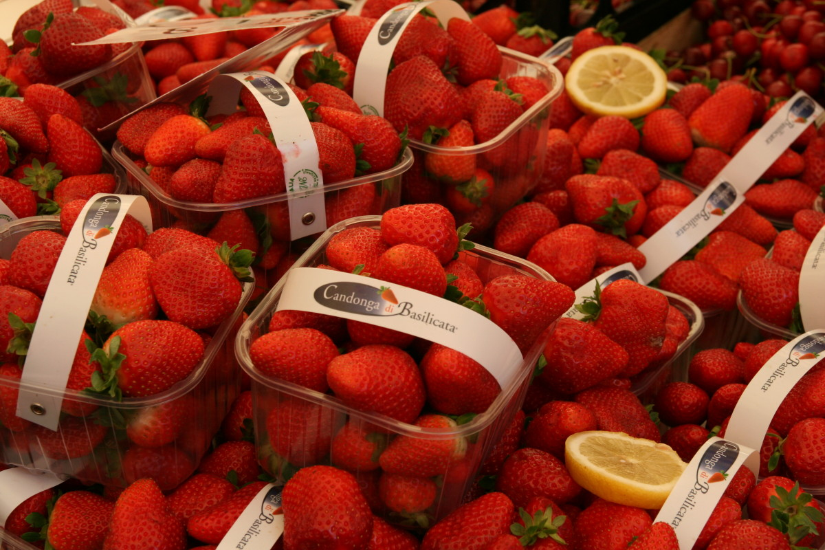 go for organic strawberries at the local market or many local producers sell them by the side of the road.