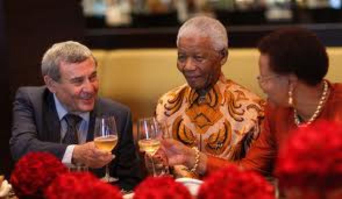 Sol Kerzner with Nelson Mandela