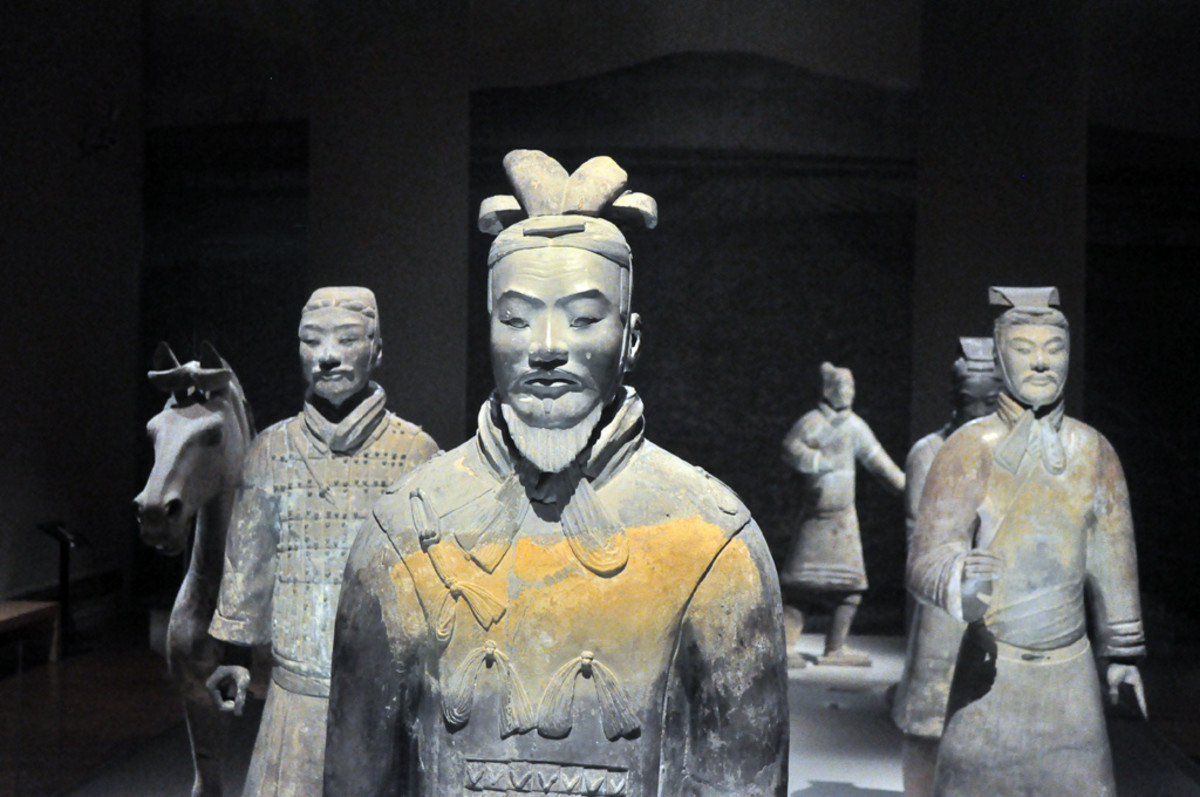 Terracotta Warriors made by the first emperor of China, Qin Shih Huang, to guard his tomb.