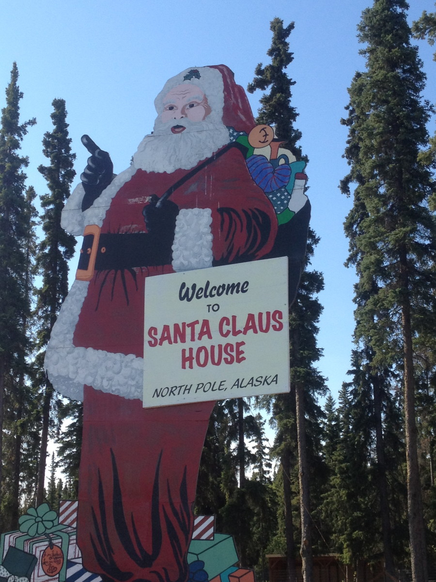 North pole Alaska at Santa Land