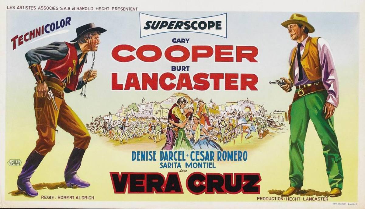 Vera Cruz (1954) Belgian poster