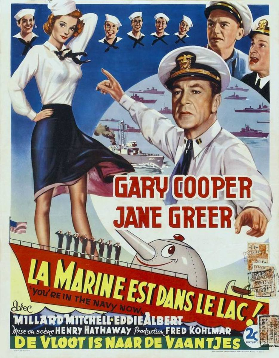 You're in the Navy Now (1951) Belgian poster