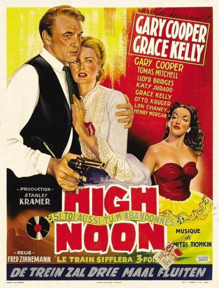 High Noon (1952) Belgian poster