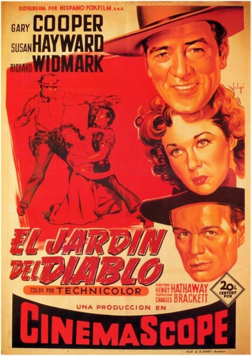 Garden of Evil (1954) Spanish poster