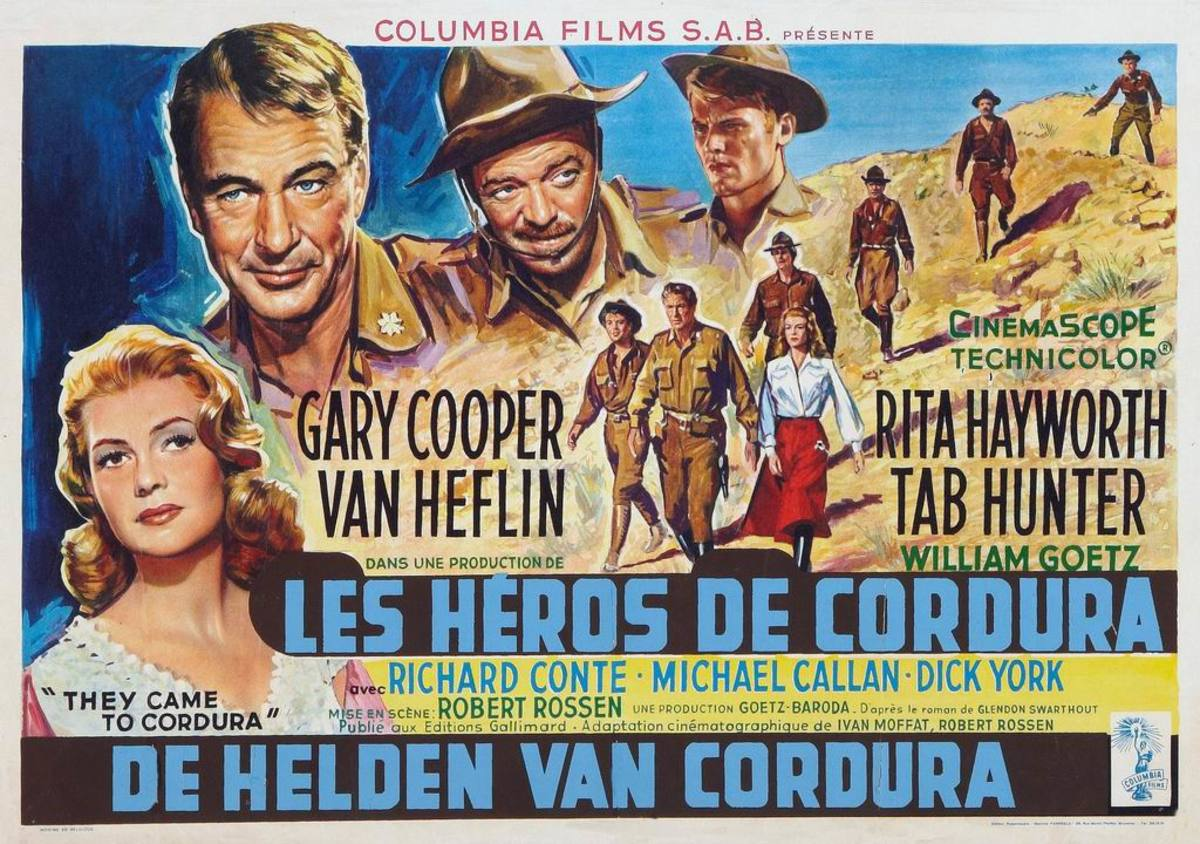 They Came to Cordura (1959) Belgian poster