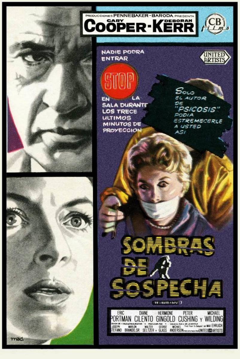 The Naked Edge (1961) Spanish poster