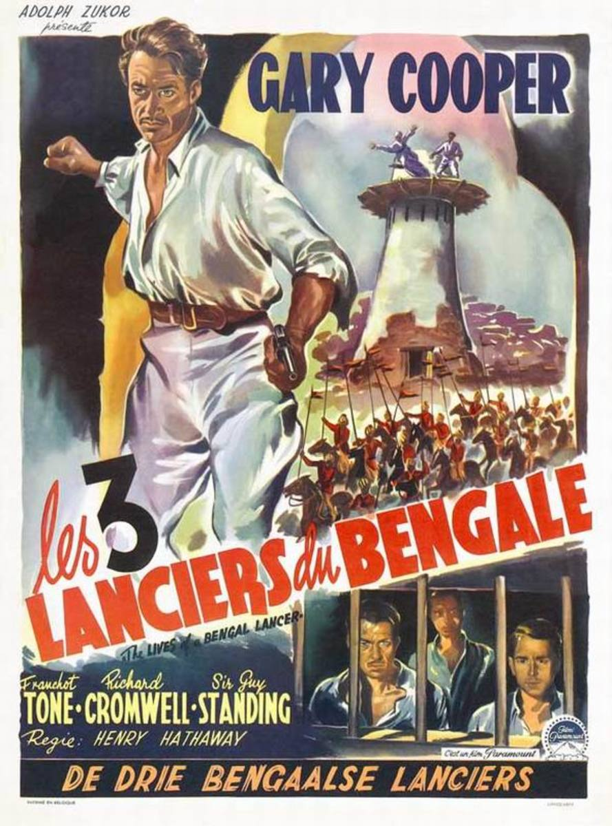 The Lives of a Bengal Lancer (1935) Belgian poster