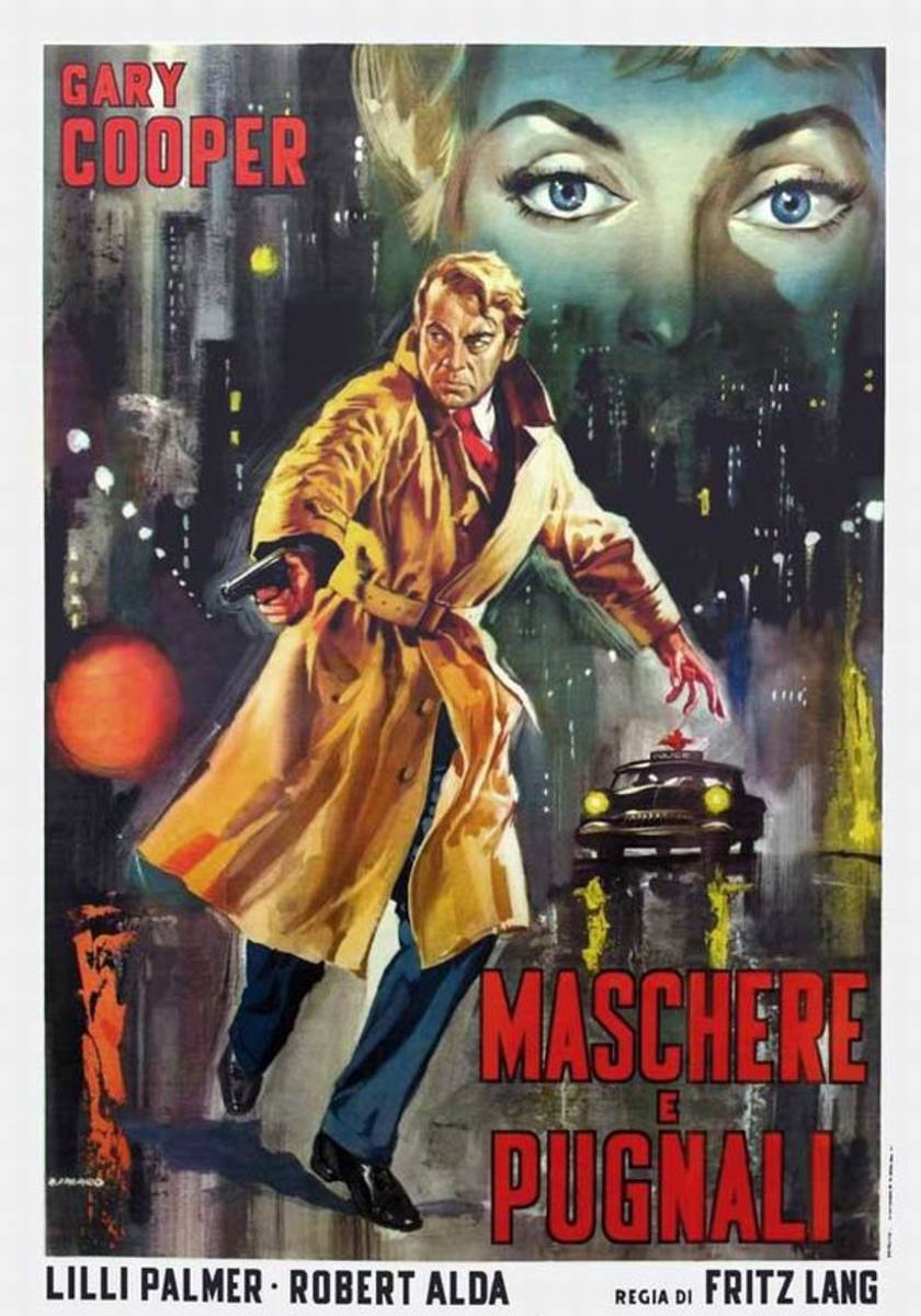 Cloak and Dagger (1946) Italian poster