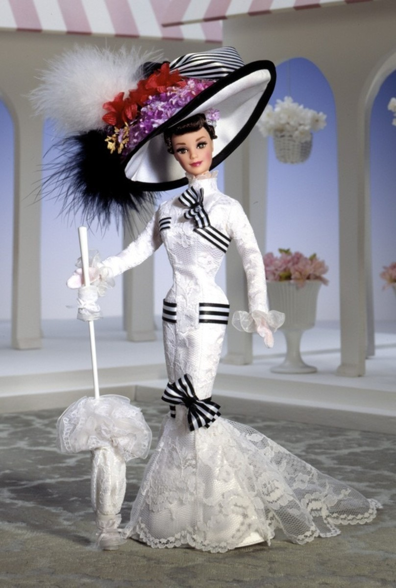 Audrey Hepburn barbie doll from My Fair Lady