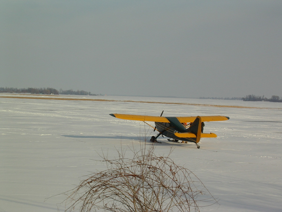 If planes can land on the frozen river, there should be no problems driving truck loads of contraband across.