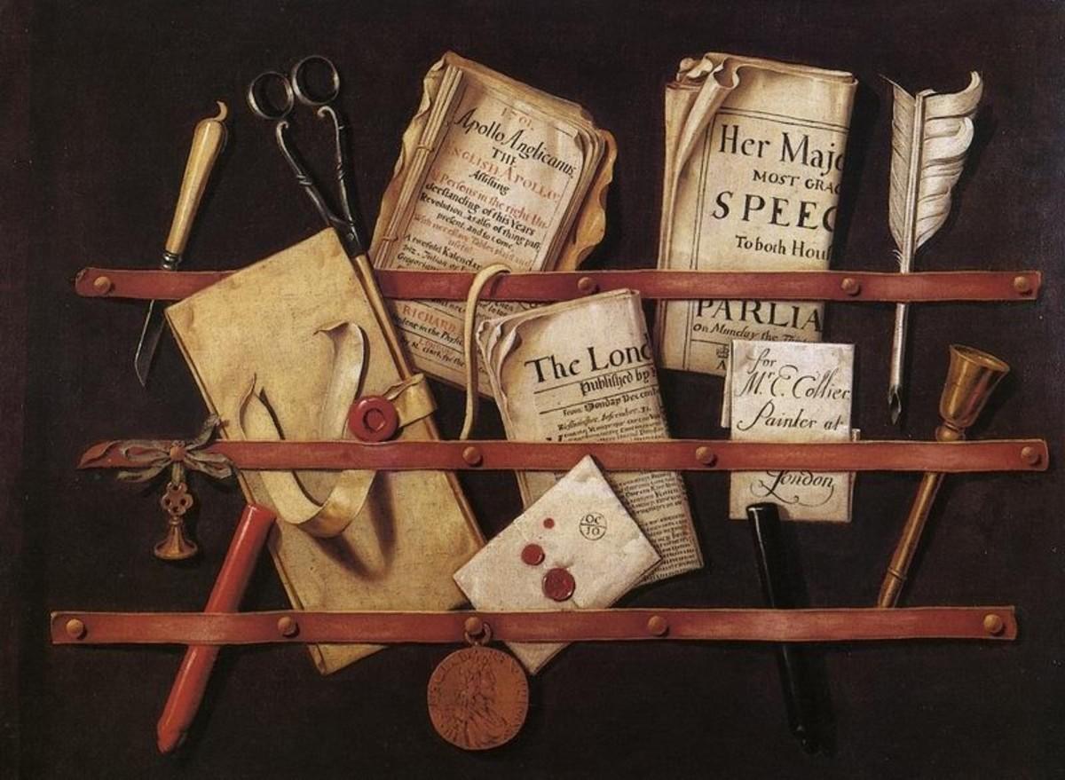 Edward Collier's trompe l'oeil painting.