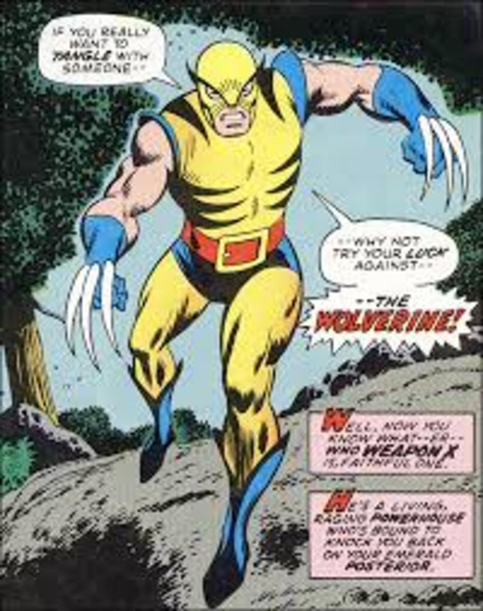 Wolverine as seen in Hulk # 180 looking quite different to how we know him today.
