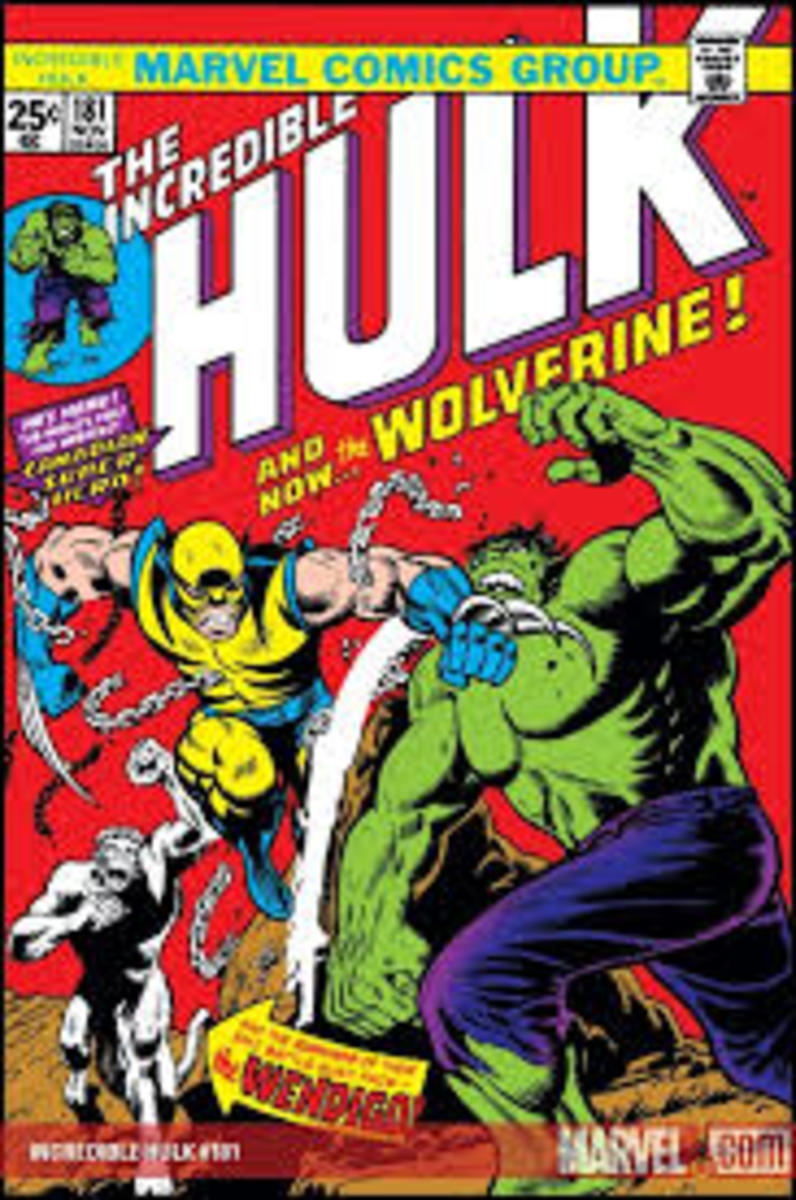 Wolverine battles the not so jolly green giant.