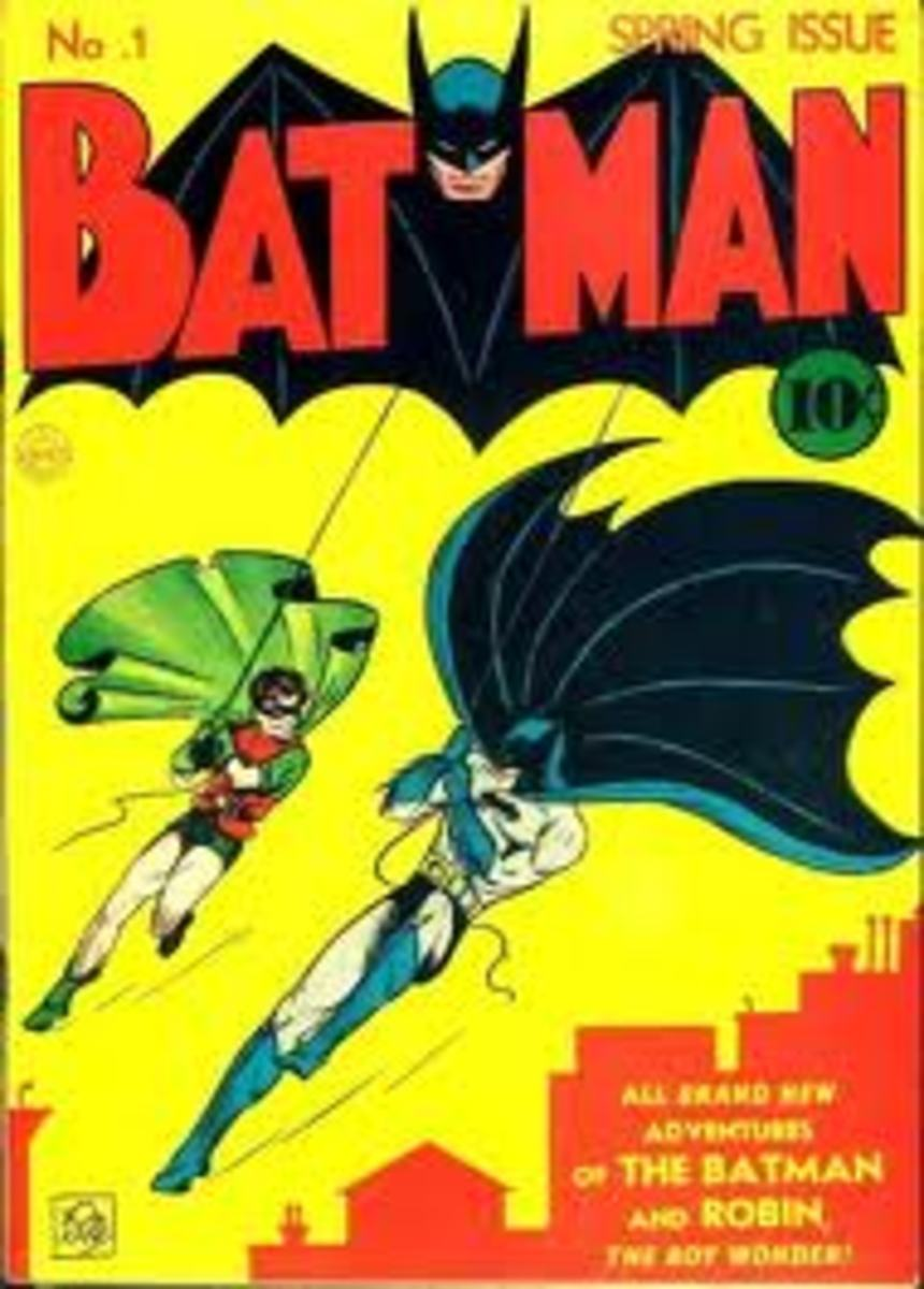 Batman and the boy wonder swing into action.