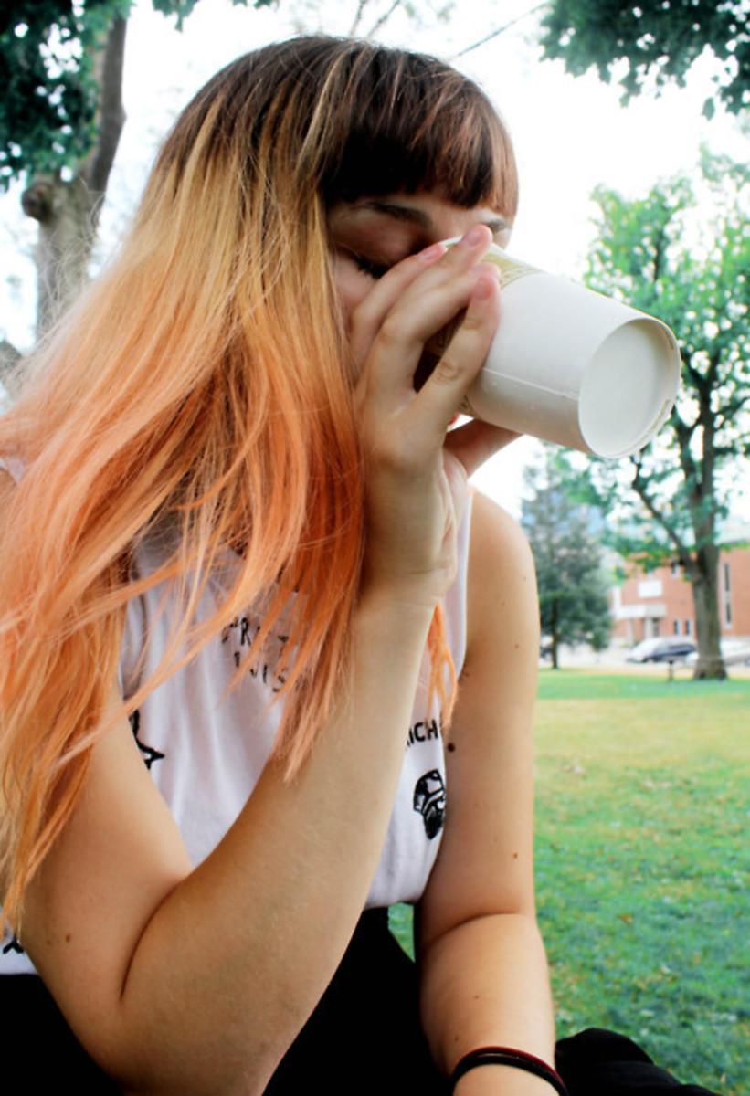 Orange dip dye