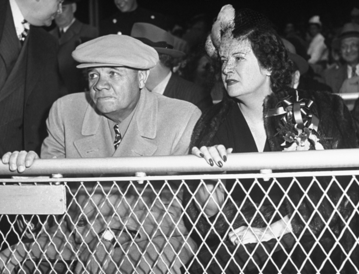 The Babe and his second wife Claire in 1947.