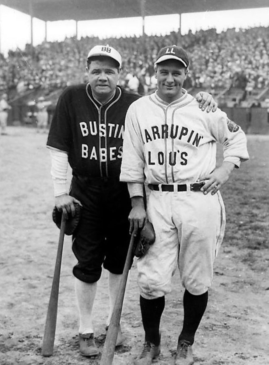 Babe Ruth and Lou Gehrig on another barnstorming tour