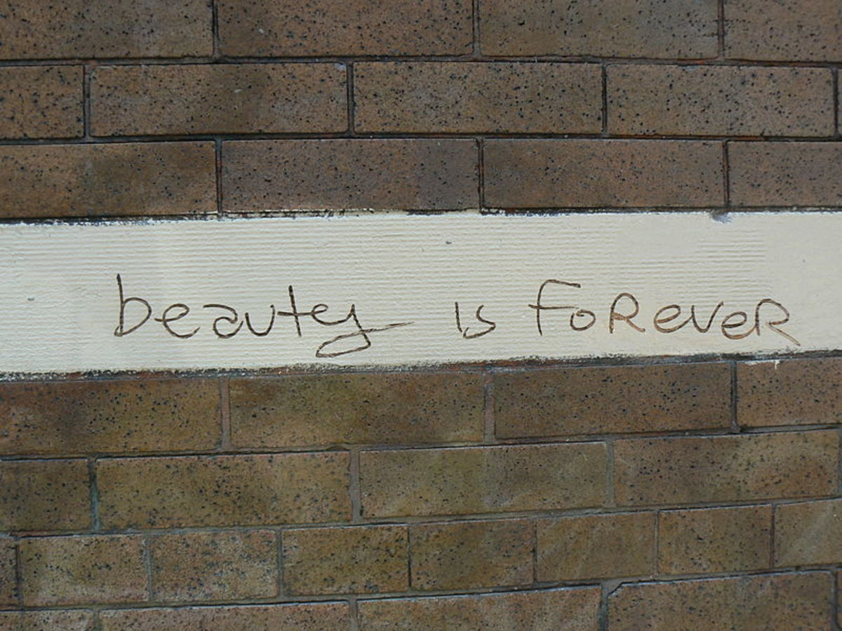 Real beauty is forever....It doesn't grow old or die