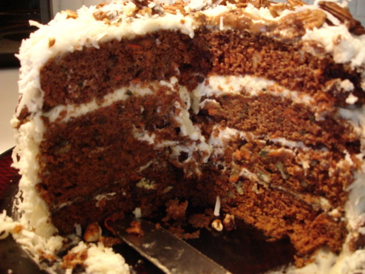 old fashioned moist carrot cake with cream cheese frosting