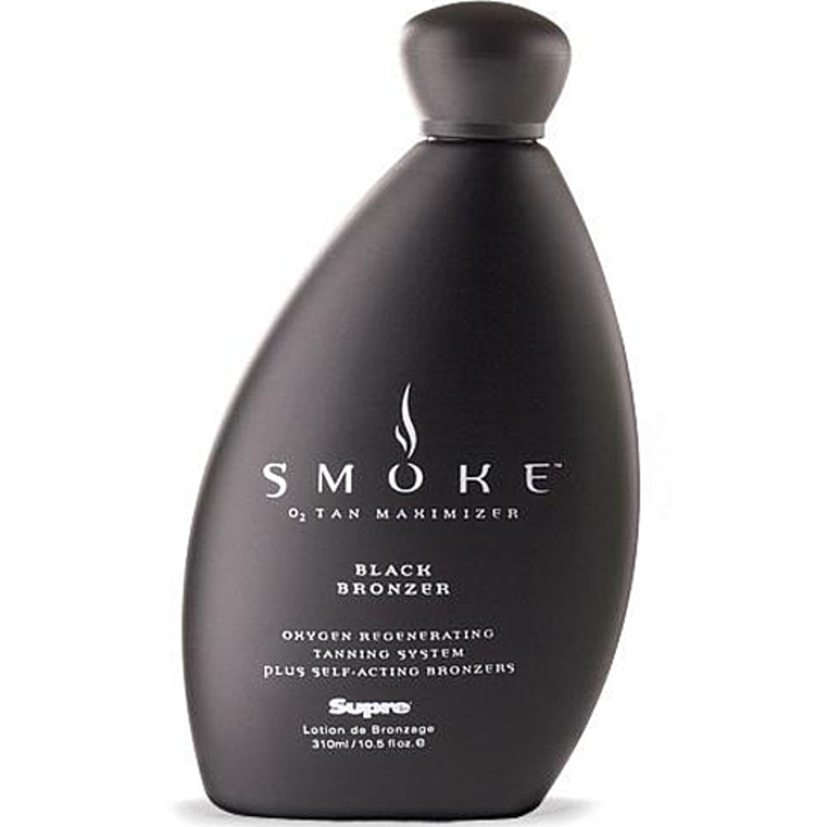 Supre's Smoke Black Bronzer is great for men and women. It enhances your tan, smells great, and keeps your skin moist.