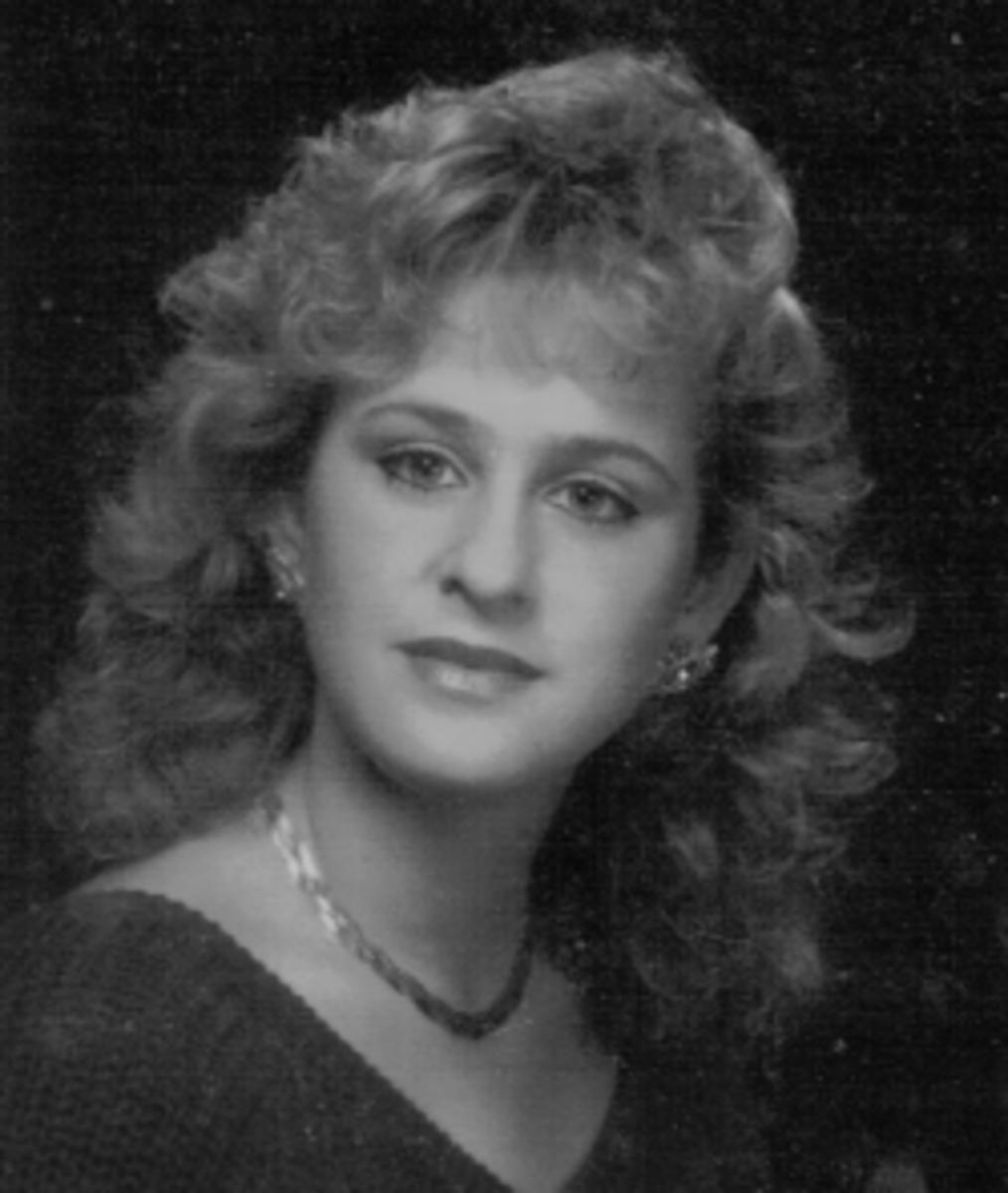 My own '80s hair