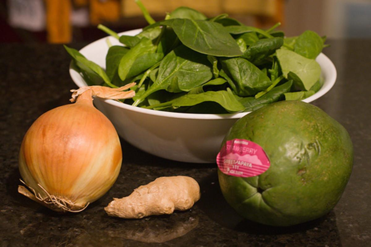 Ingredients for Chicken Tinola