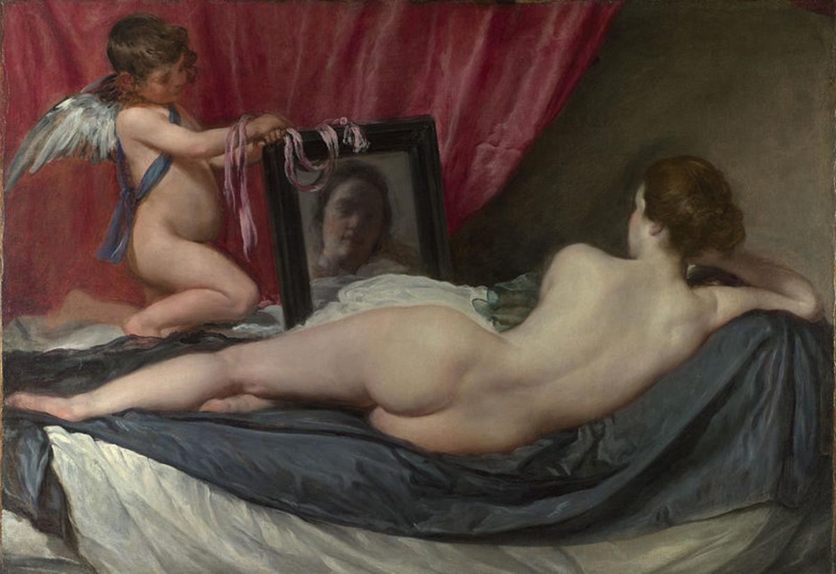 "Diego Velazquez, ""Rokeby Venus,"" 1647-1651 (48 x 69.7 inches)"
