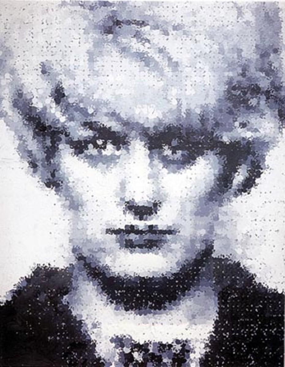 "Marcus Harvey, ""Myra,"" 1995 (9 x 11 feet)"